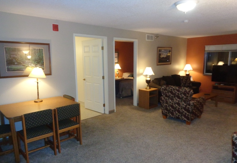 Riverview Suites Apartments on First Street, Rochester, Apartment, 1 Bedroom, Kitchen, Living Area