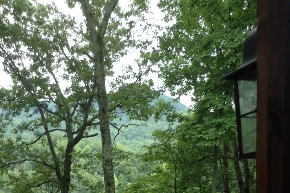 เคบินโรแมนติก, 1 ห้องนอน, วิวภูเขา, ติดภูเขา (Acorn Cabin) - ระเบียง