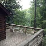 เคบินโรแมนติก, 1 ห้องนอน, วิวภูเขา, ติดภูเขา (Bluebird Cabin) - ระเบียง