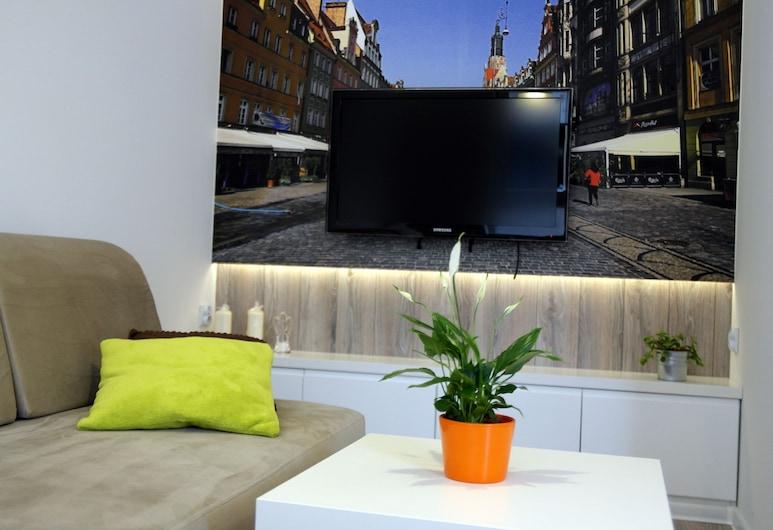 Horison Apartments, Wroclaw, Studio (Golden House, Rydygiera 16), Living Room