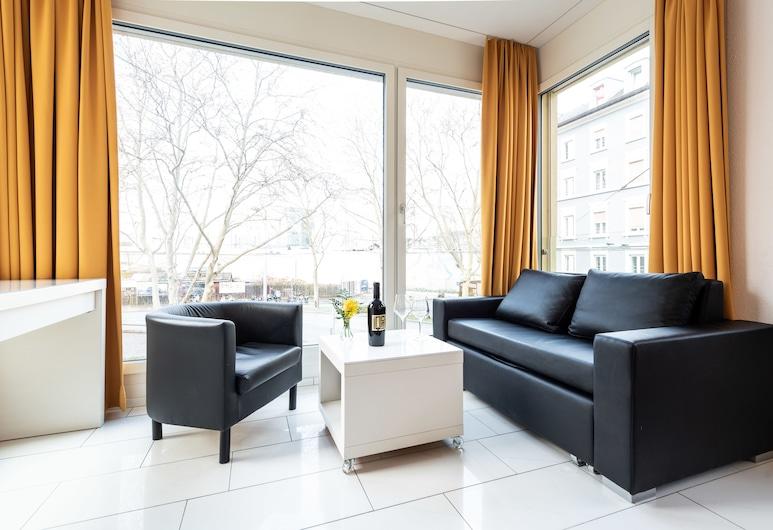 iQ130 Hotel, Zürich, Studio Apartment Comfort, Living Area