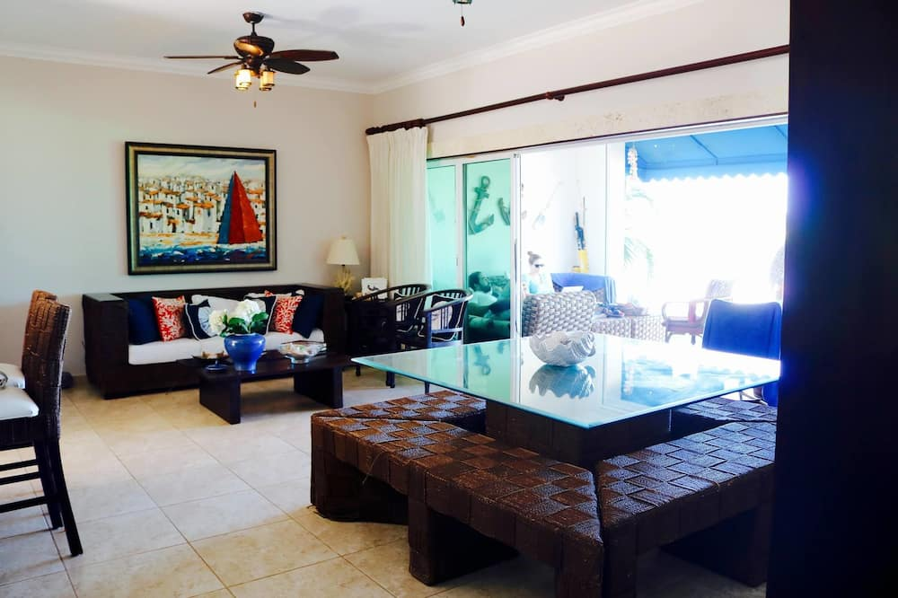 Three Bedroom Apartment, Ocean View  - Living Area