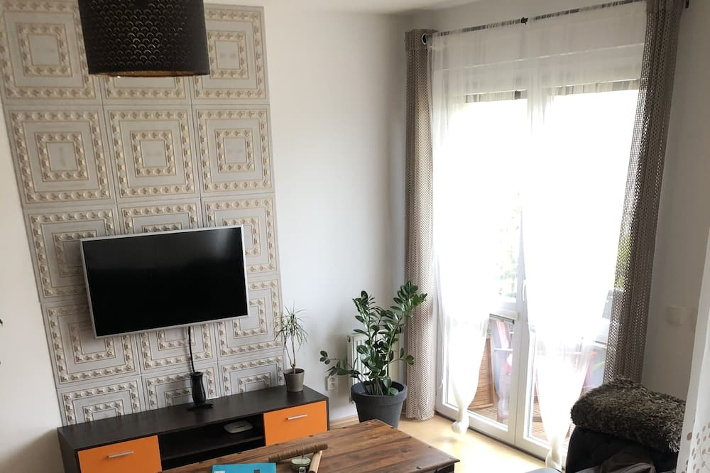 Rodinný apartmán, 1 ložnice, balkon - Obývací pokoj