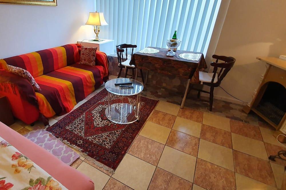 Студія категорії «Комфорт», 1 ліжко «кінг-сайз» та розкладний диван, для некурців, міні-кухня - Житлова площа