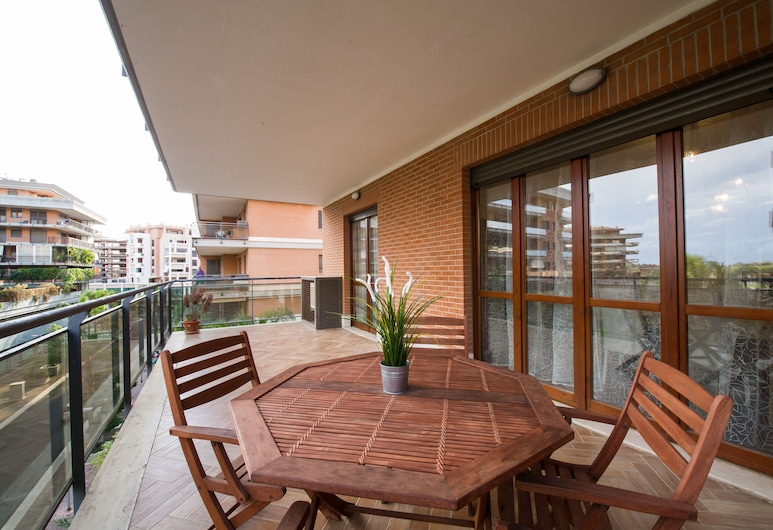 Domus BB Plaza Guest House, Fiumicino, Lejlighed - 1 soveværelse, Terrasse/patio