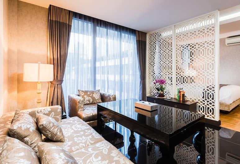 더 파 실롬, 방콕, Penthouse Suite King bed, 거실 공간
