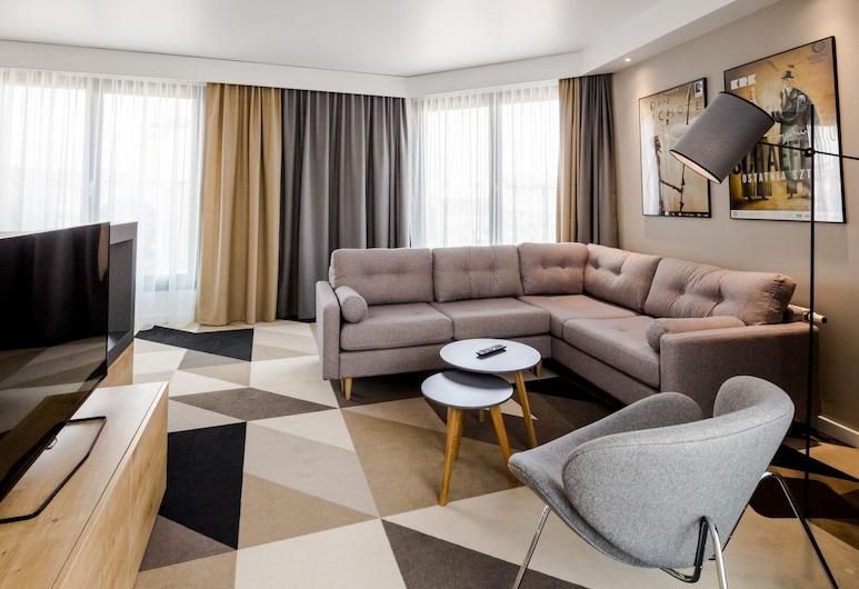 Lwowska 1, Cracovia, Suite ejecutiva, 2 habitaciones, chimenea, Zona de estar