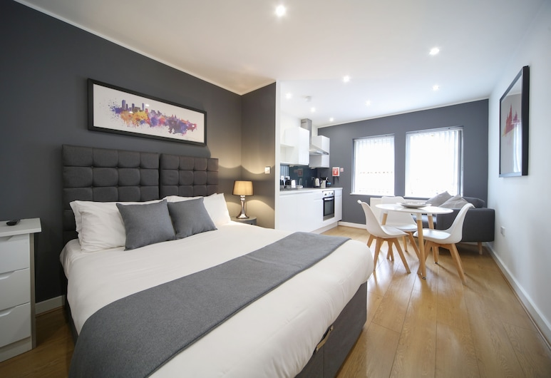 CityStop Apartments Wood Street , Liverpool, Studio Apartment – Sleeps 2, Room