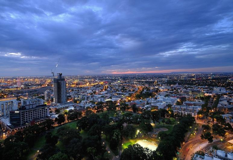 The Jazz Corner Hotel, Melbourne, Studio typu Executive, dvojlůžko (180 cm), nekuřácký, výhled na město, Výhled zpokoje