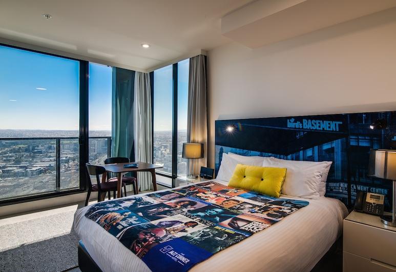 더 재즈 코너 호텔, 멜버른, 이그제큐티브 스튜디오, 퀸사이즈침대 1개, 금연, 시내 전망, 객실