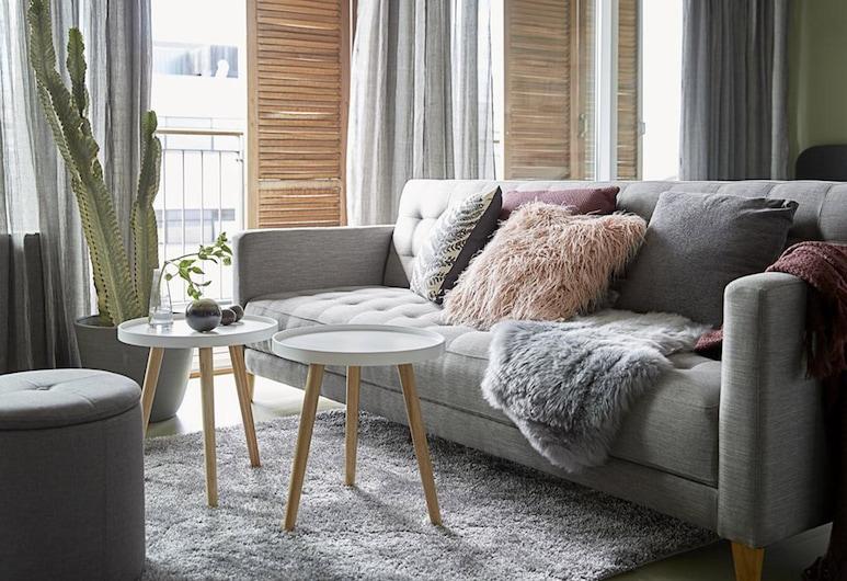 Hotel Ferdinand, Aarhus, Premium-Studio, Balkon, Wohnbereich