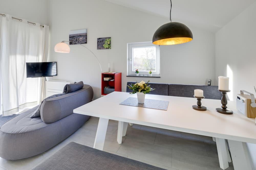 Luxury-Haus, 1 Schlafzimmer, Kamin, Gartenblick - Wohnzimmer