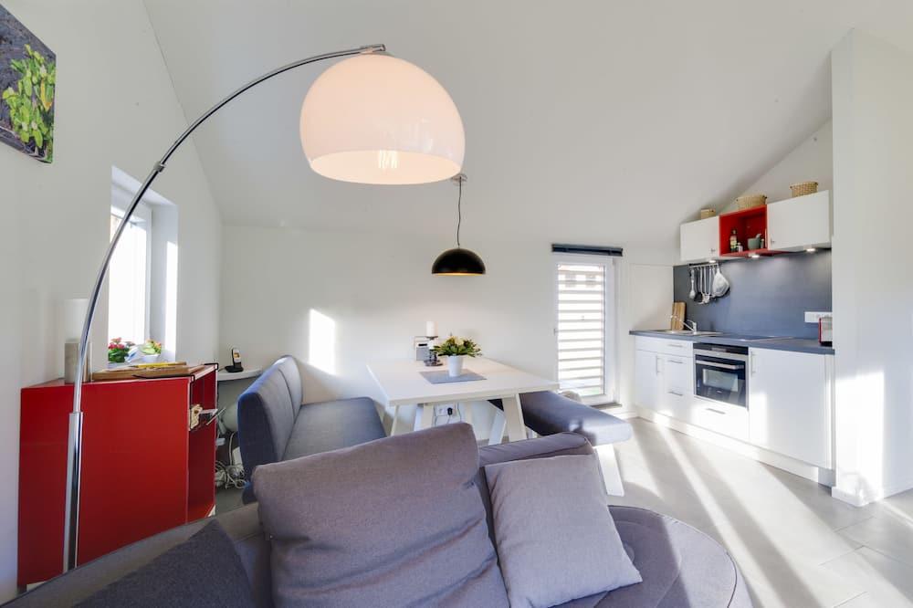 Luxury-Haus, 1 Schlafzimmer, Kamin, Gartenblick - Wohnbereich