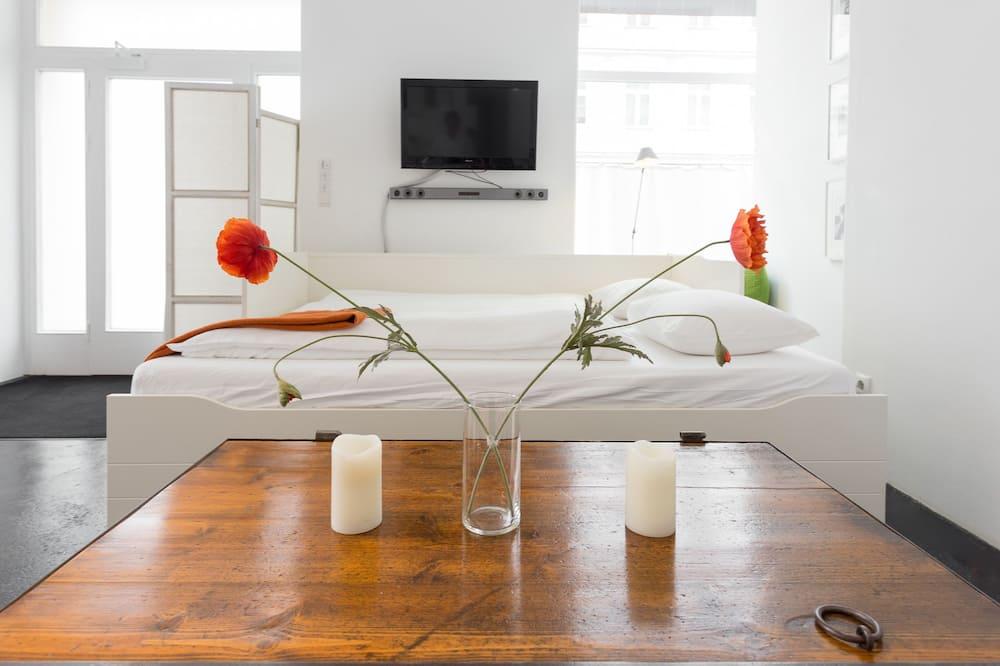 Premium-lejlighed - 1 soveværelse - køkken - stueetage (Premium Apartment, 1 Bedroom, Kitchen) - Værelse
