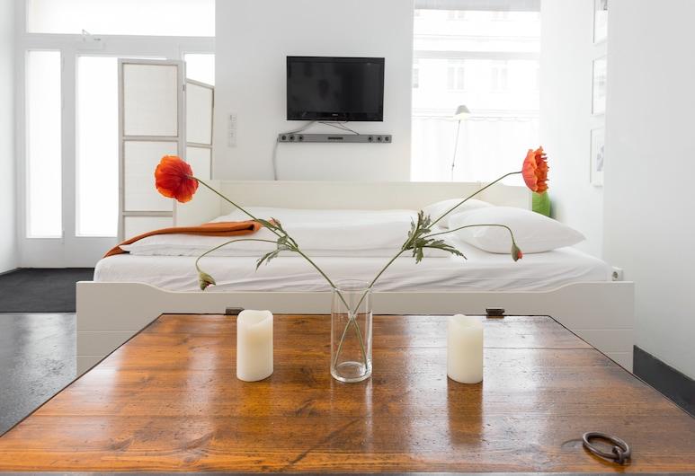 Premium Apartment beim Belvedere, Viena, Apartamento premium, 1 quarto, Cozinha, Piso térreo (Premium Apartment, 1 Bedroom, Kitchen), Quarto