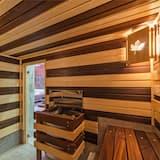 特色開放式套房, 1 張加大雙人床和 1 張沙發床, 三溫暖 - 客房