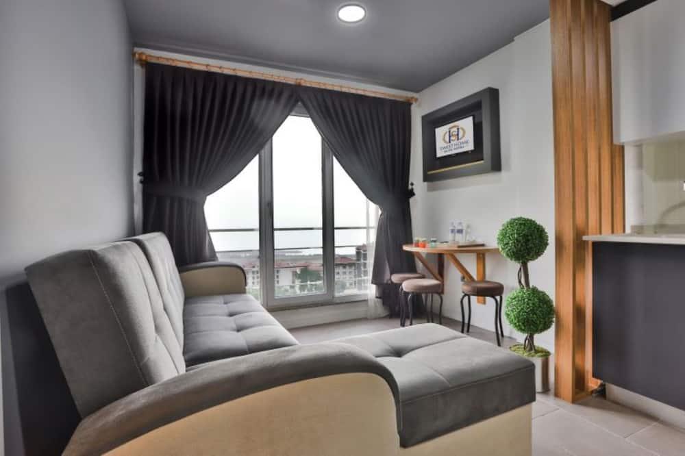 Suite – family, 2 soverom, utsikt mot fjell - Stue