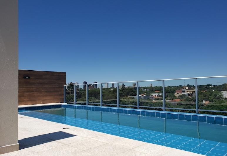 Start Villa Morra Rent Apartments, Asunción, Svit - 1 queensize-säng, Terrass