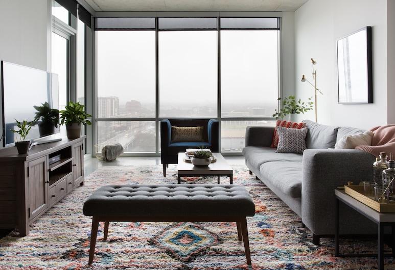 Kasa Austin 2nd Street Apartments, Austin, Signature sviit, 1 ülilai voodi ja diivanvoodi, suitsetamine keelatud, rõduga, Tuba