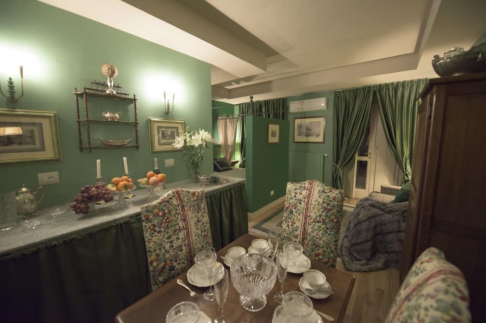 Departamento, 1 habitación, cocina básica (Verde) - Sala de estar