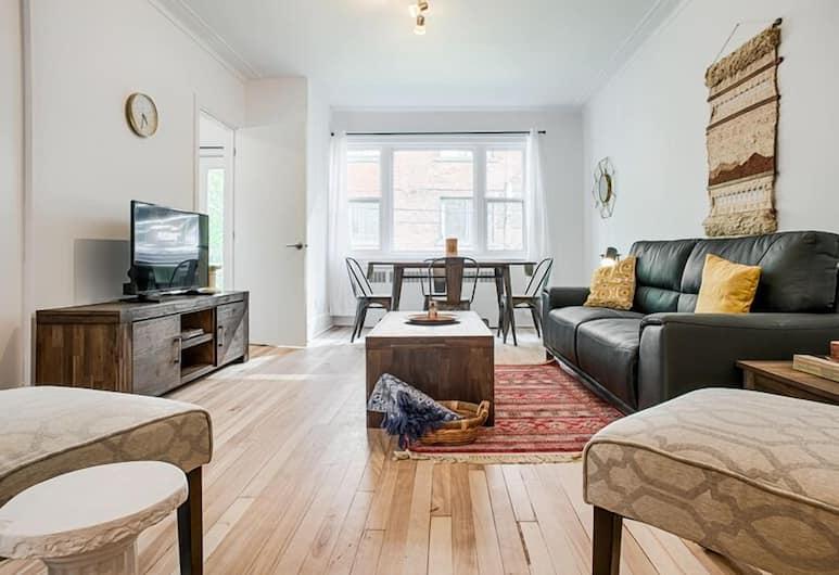 Modern CôtedesNeiges Suites by Sonder, Montréal, Appartement Standard, 3 chambres, Coin séjour