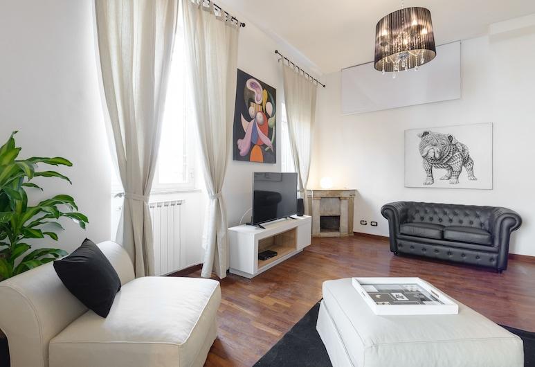西班牙廣場公寓酒店, 羅馬, 公寓, 2 間臥室, 客廳