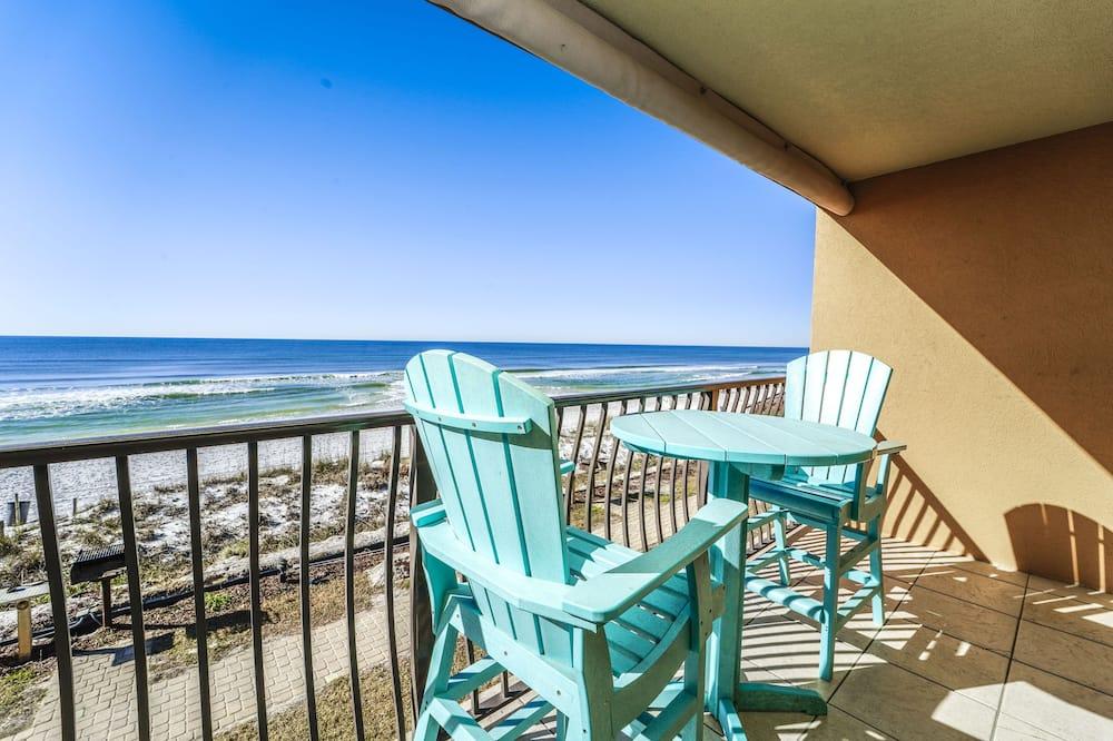 Kooperatīva tūristu mītne, viena guļamistaba, skats uz jūru (25) - Balkons