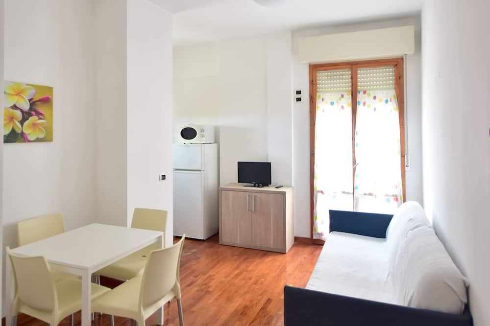 アパートメント 1 ベッドルーム バルコニー - リビング エリア
