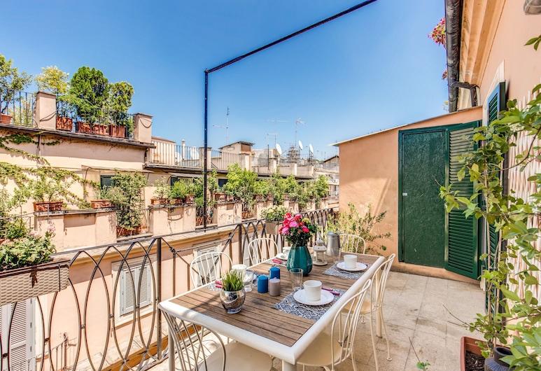 西班牙魅力生活頂層房酒店, 羅馬, 高級頂層客房, 2 間臥室, 城市景, 陽台