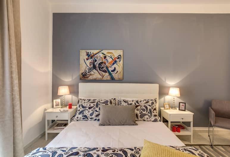 AwesHome - Trastevere Yellow Frame, Rom, Deluxe Apartment, 2 Bedrooms, Bilik