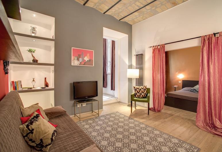Trastevere Scarlet Dream Suite, Rome, Comfort Apartment, 1 Bedroom, Living Area