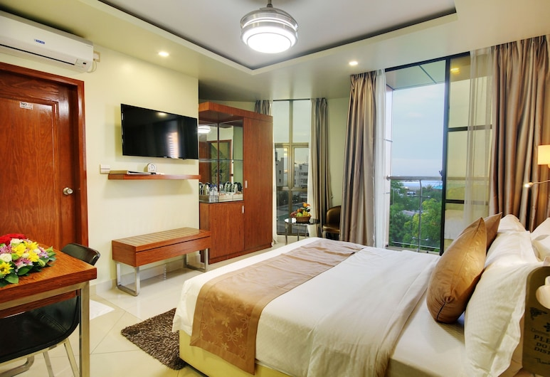 UNIMA GRAND, Malé, Deluxe Double Room, Accessible, Ocean View (Free Return Airport Transfer), Bilik Tamu