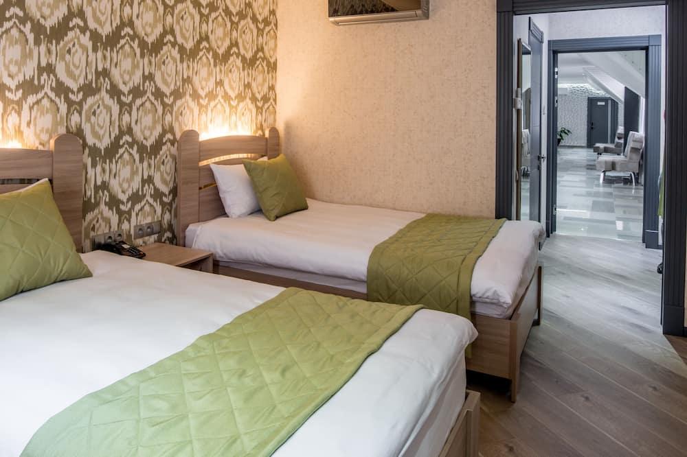 Pagerinto tipo dvivietis kambarys (2 viengulės lovos) - Svetainės zona