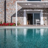Villa de lujo, 1 habitación, piscina privada, junto a la playa (Ammos) - Vista desde la habitación
