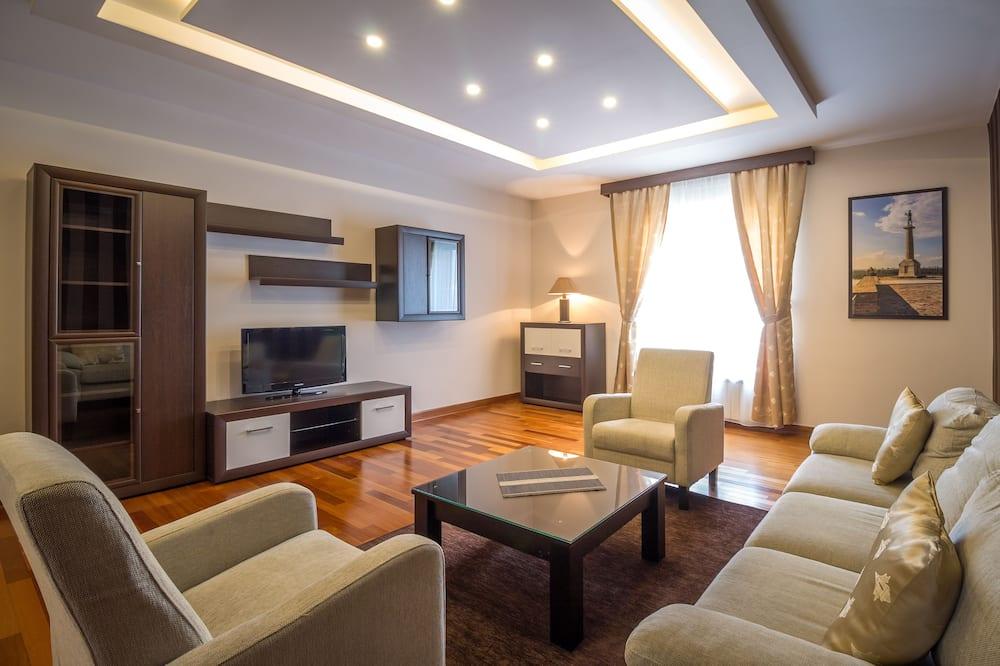 Apartamento Deluxe, 2 habitaciones, terraza - Sala de estar