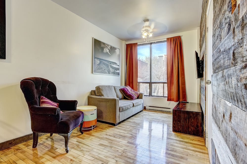 Apartmán typu City, dvojlůžko (180 cm) - Obývací prostor