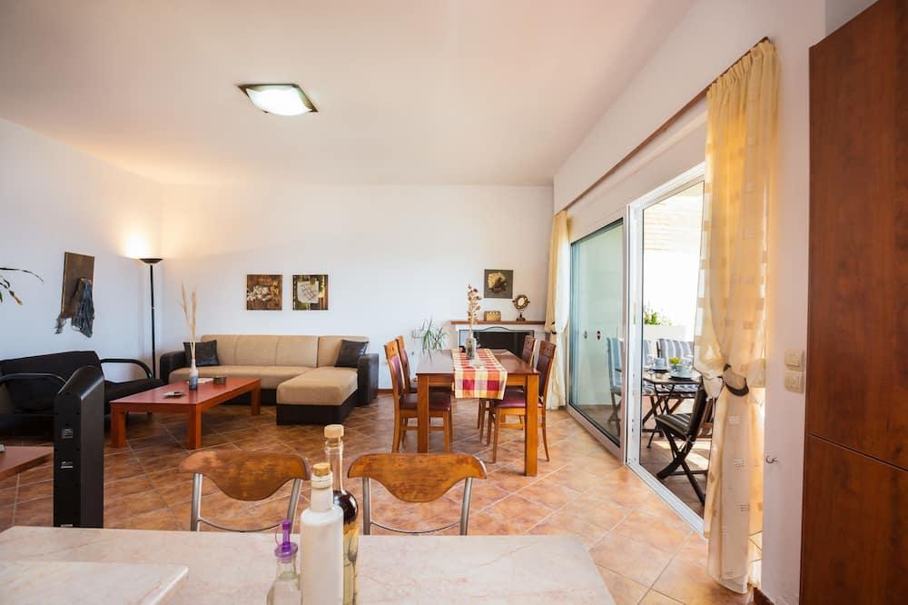 Duplex, 2 Bedrooms, Private Pool, Sea View (Faye) - Living Area