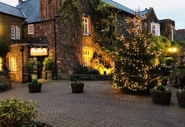 The Priory Hotel and Restaurant, Newport, Hotel Front – Evening/Night