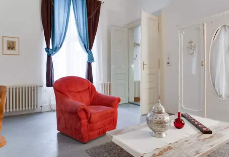 Franz Kafka Apartment, Praha, Apartmán typu Basic, 2 spálne, fajčiarska izba, s výhľadom do dvora, Obývačka