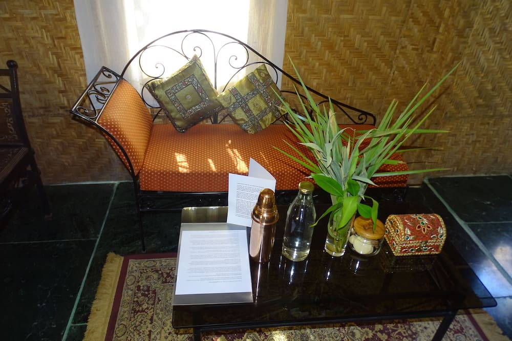 Habitación doble Premier, 1 habitación, para no fumadores, vista al jardín - Sala de estar