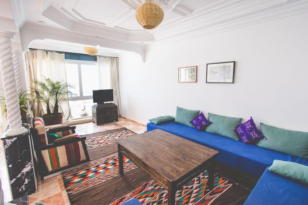 Penthouse, 2Schlafzimmer, Meerseite - Wohnbereich