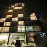 Fassade der Unterkunft – Abend/Nacht