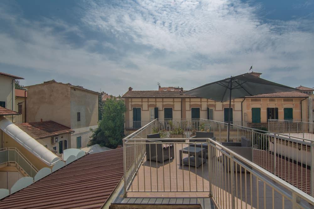 Driepersoonskamer - Uitzicht vanaf balkon