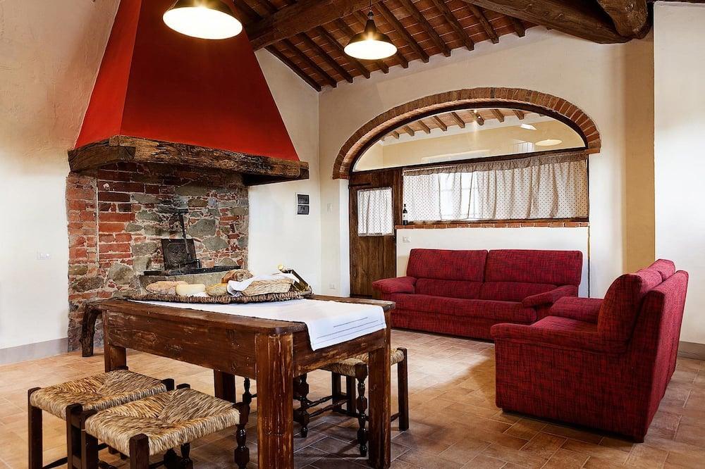 Lägenhet - 3 sovrum - utsikt mot trädgården - Vardagsrum
