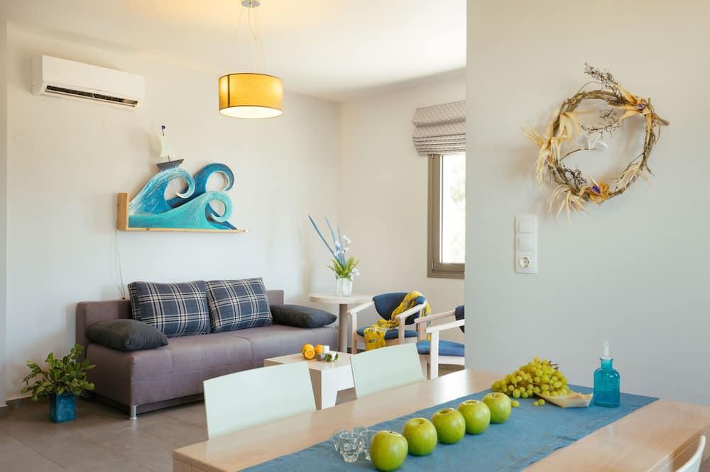 Appartement Luxe, 2 chambres, vue mer - Salle de séjour