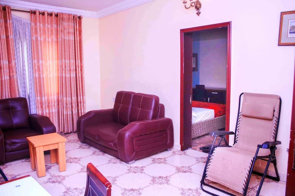 總統套房, 2 間臥室, 非吸煙房, 熱水浴缸 - 客廳