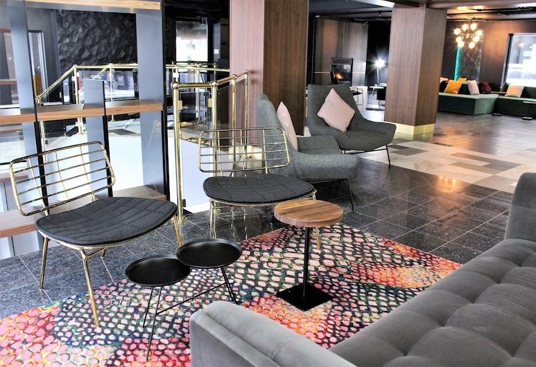 Lelux Hotel, Montreal, Sittområde i lobbyn