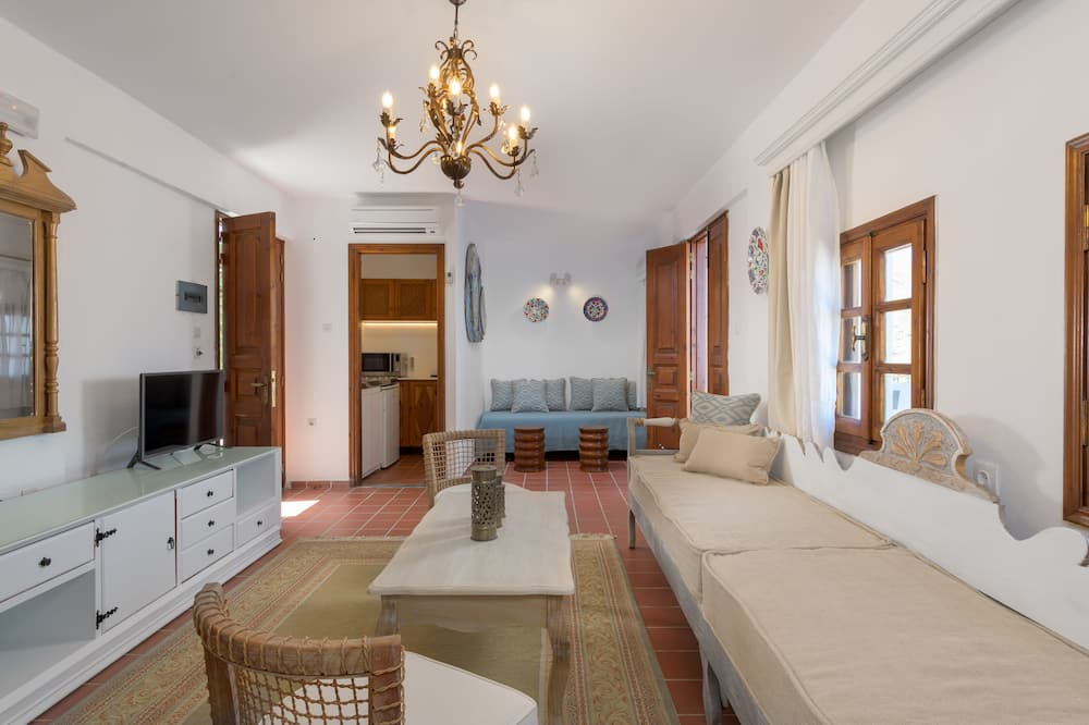 Apartmán typu Grand, 2 spálne, balkón, výhľad na more - Obývacie priestory