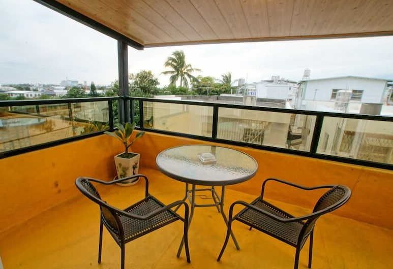 幸福 199, 台東市, 蜜月雙人房, 1 間臥室, 陽台, 部分海景, 陽台