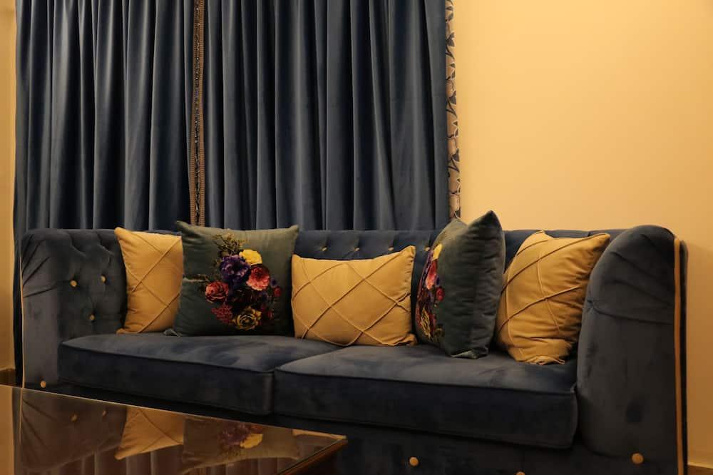 Executive-Suite, Raucher, Meerblick - Wohnzimmer